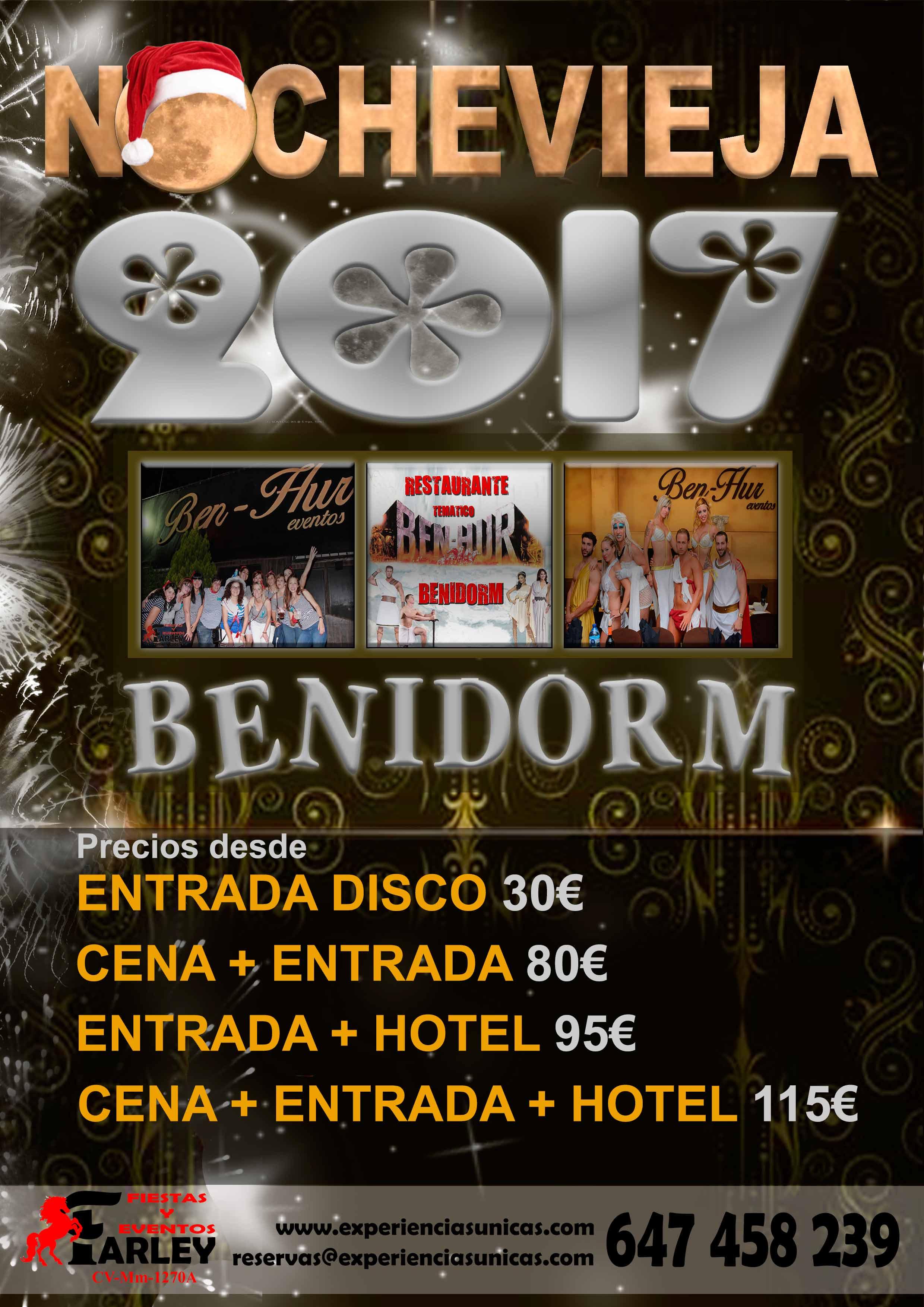nochevieja benidorm Area Disco 2017