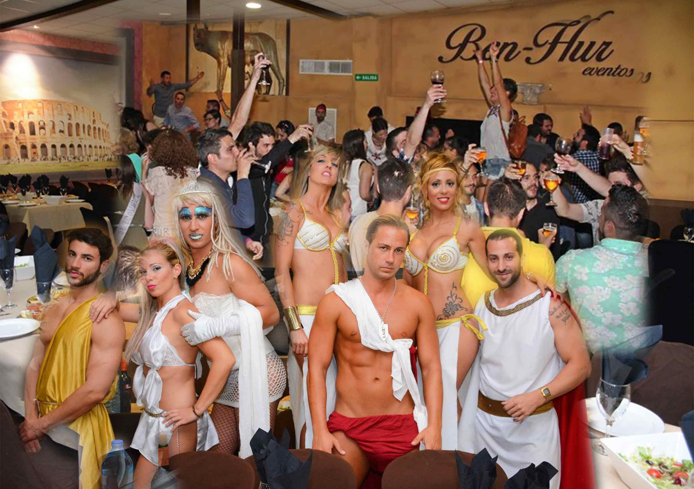 Despedida de soltero en Benidorm, restaurante Ben-Hur