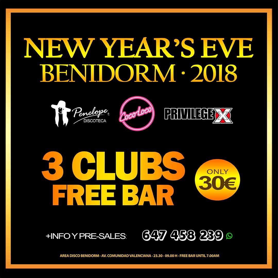 new year's eve Benidorm 2018