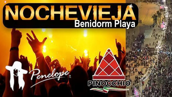 Fin de año Benidorm playa restaurante Pinocchio