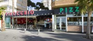 Pizzeria Pinocchio Benidorm PLaya Levante
