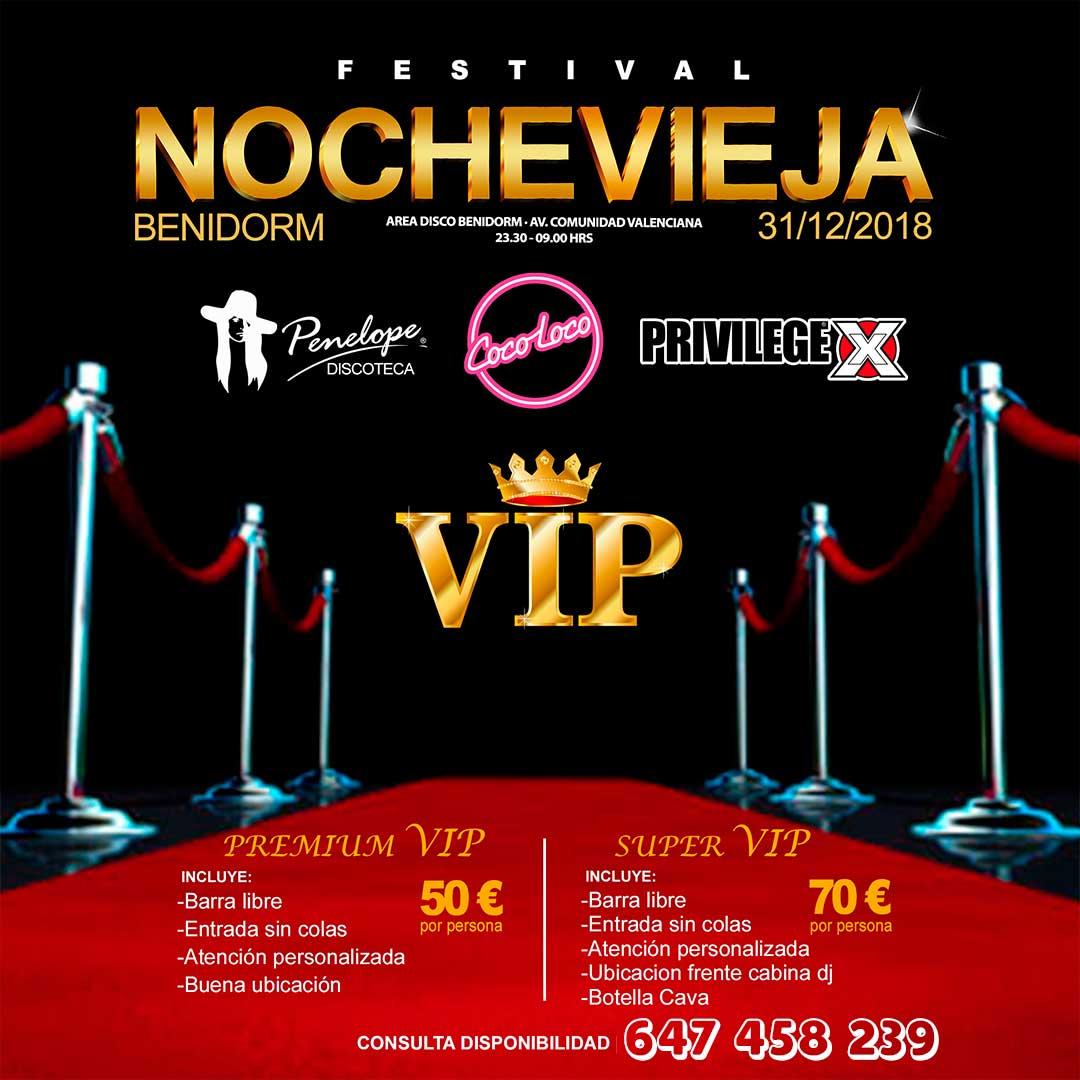 Nochevieja en Benidorm Zona VIP
