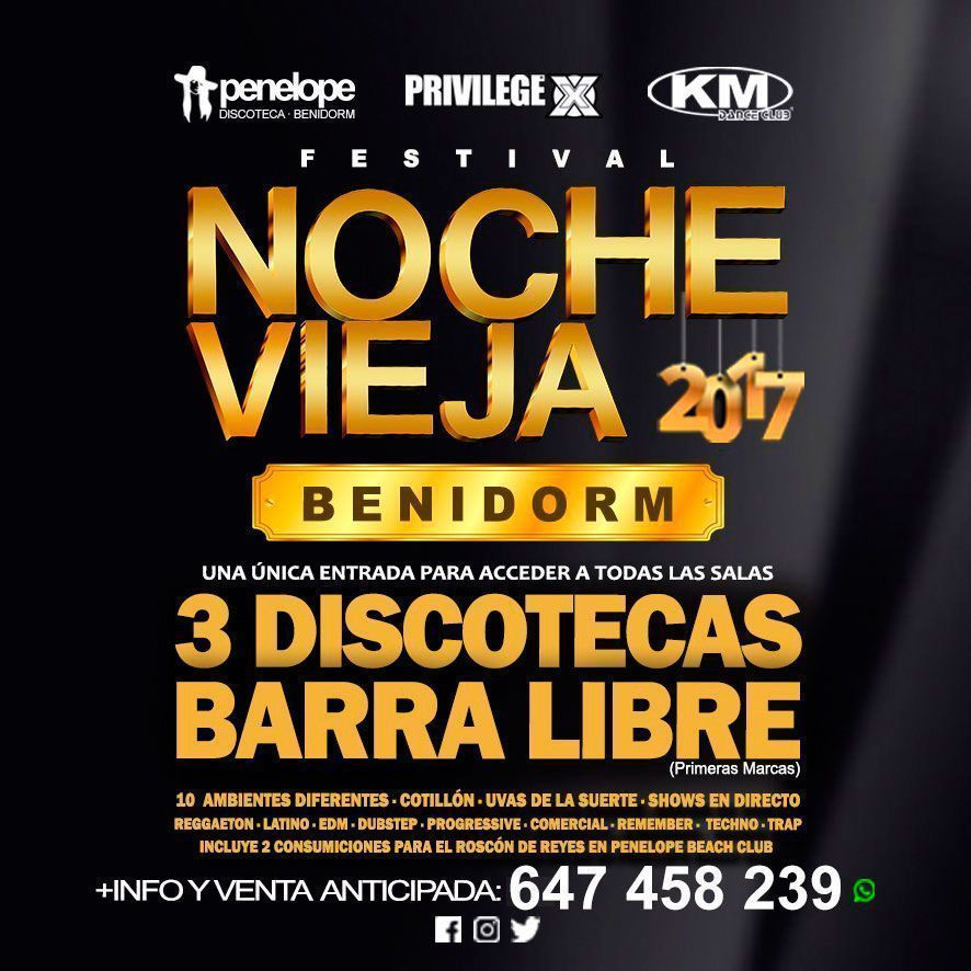 nochevieja benidorm 2017, Area Disco