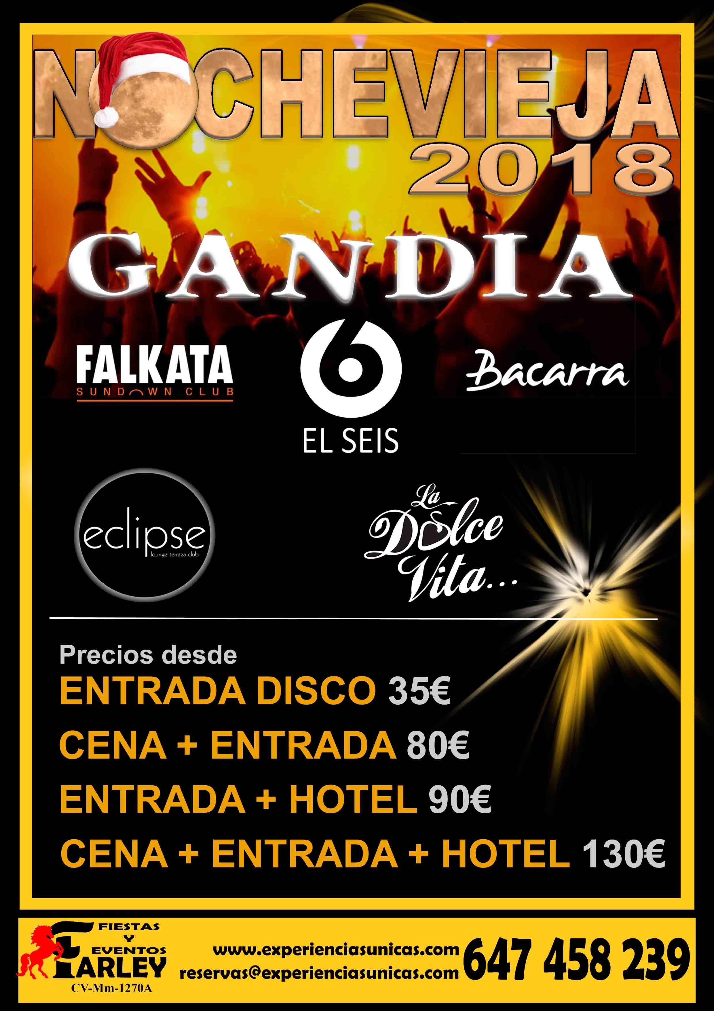 Fiesta fin de año en Gandia