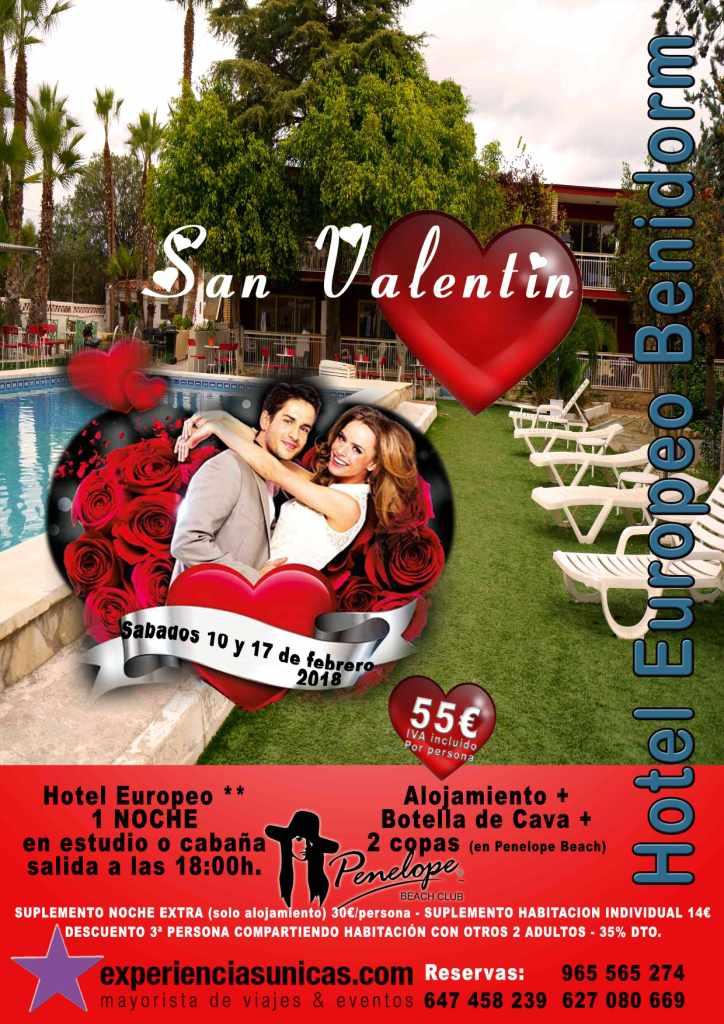 dia de los enamorados en benidorm 2018 hotel europeo