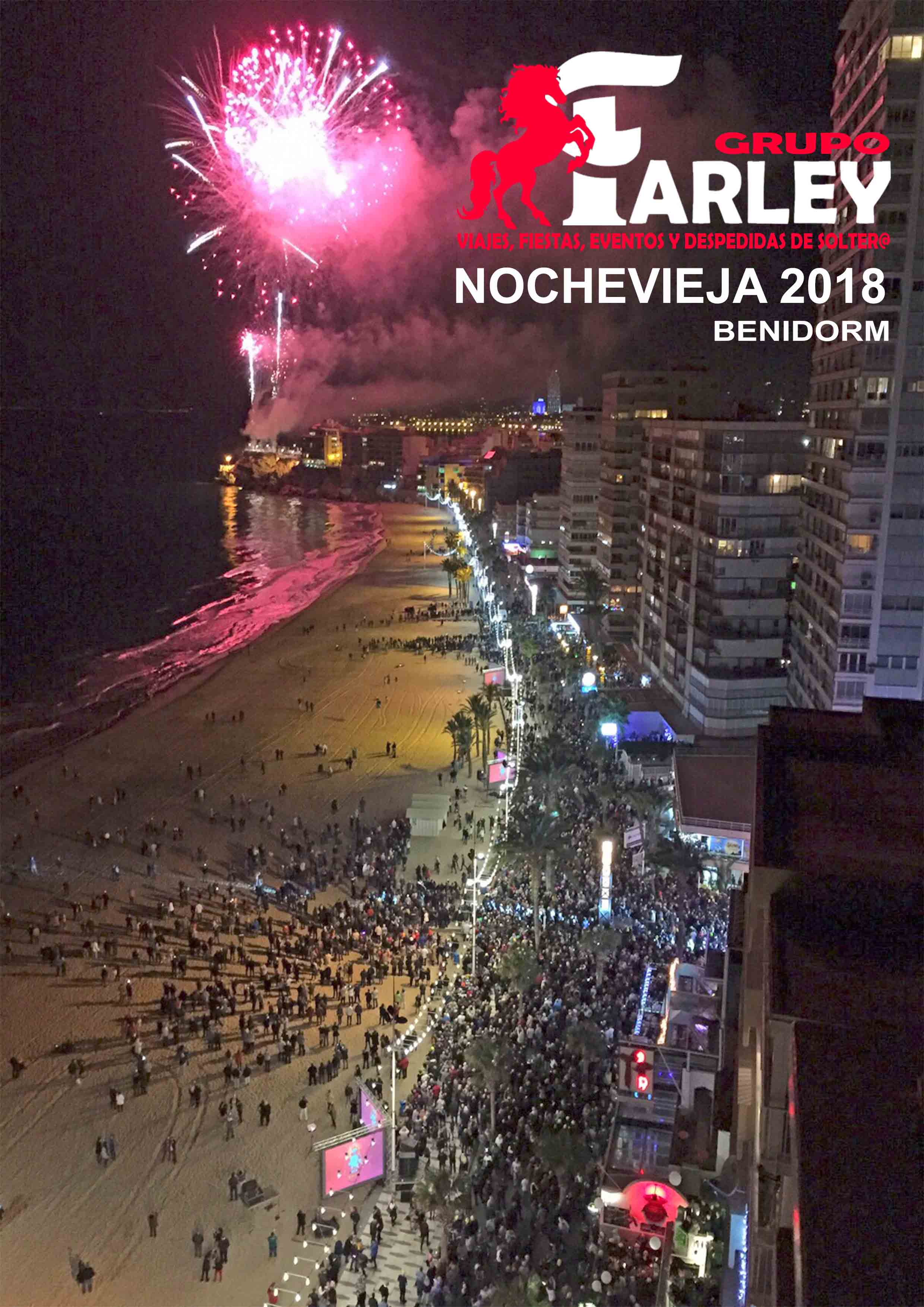 fin de año, nochevieja en Benidorm playa