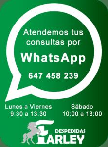 Contactar vía WhatsApp Despedidas Farley